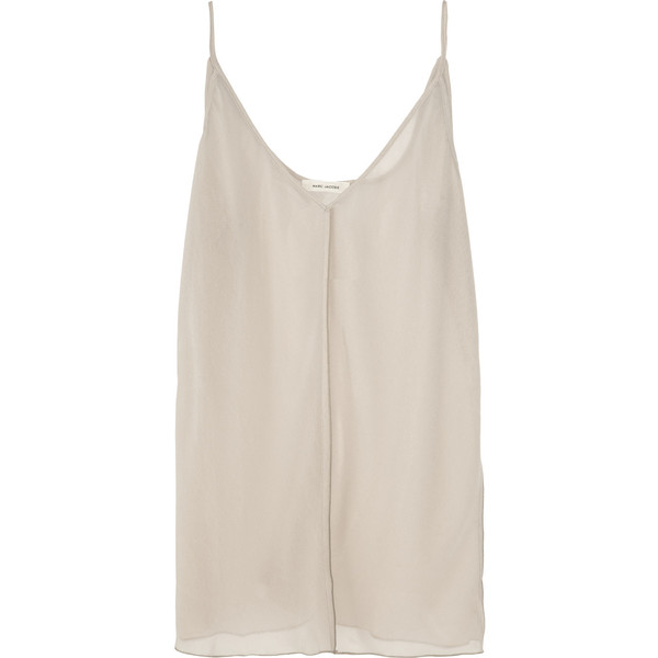 Marc Jacobs Sheer georgette camisole - Polyvore