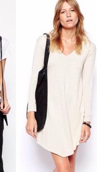 cream off-white ootdmagazine jersey dress