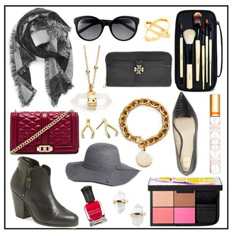 for all things lovely blogger scarf sunglasses jewels bag hat nail polish shoes