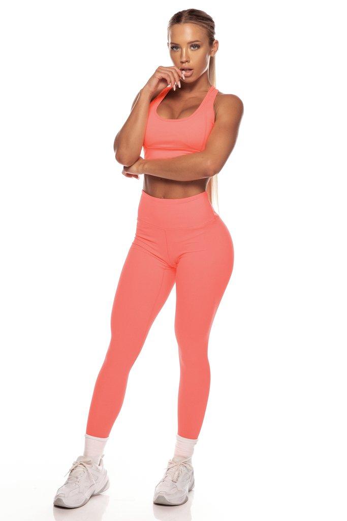 Neon Orange Sports Bra
