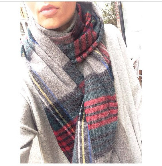 winter outfits scarf stripy scarf scarf, red, infinity scarf