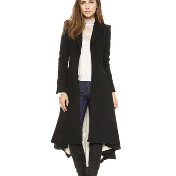 Long Black Dress Coat