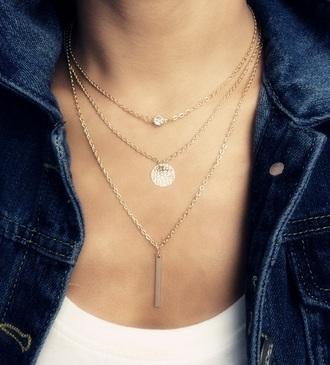jewels gold necklace jewelry trendy fashion freevibrationz free vibrationz gold necklace layered