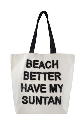 bag beach summer beach bag tan quote on it