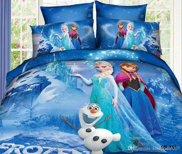 make-up kids bedding sets elsa anna princess bedding flat sheet pillow bedding