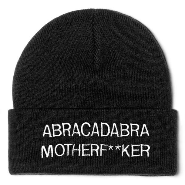 hat funny black white abracadabra