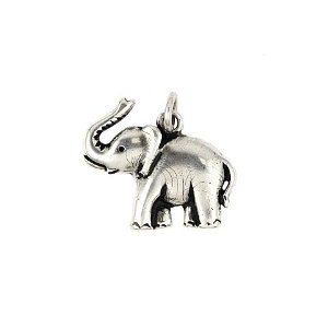 Amazon sterling silver elephant pendant jewelry aloadofball Gallery