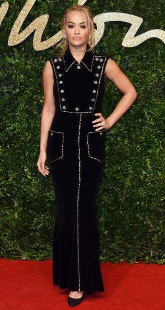 dress maxi dress rita ora pumps black dress