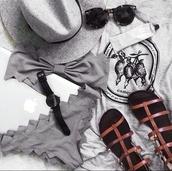 swimwear,bikini,black,grey,tumblr,fashionista,bikini?,bandeau bikini,victoria's secret,pants,underwear,shoes