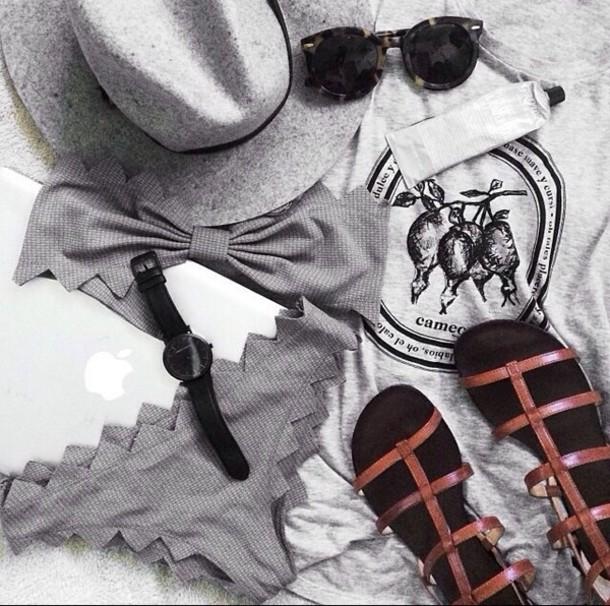 swimwear bikini black grey tumblr fashionista bikini? bandeau bikini victoria's secret pants underwear shoes