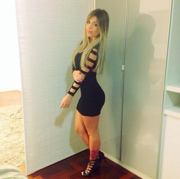 long dress tight mini