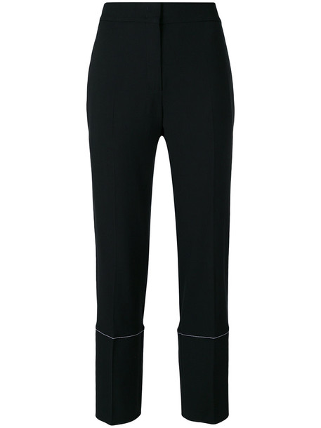 Proenza Schouler women spandex black silk wool pants