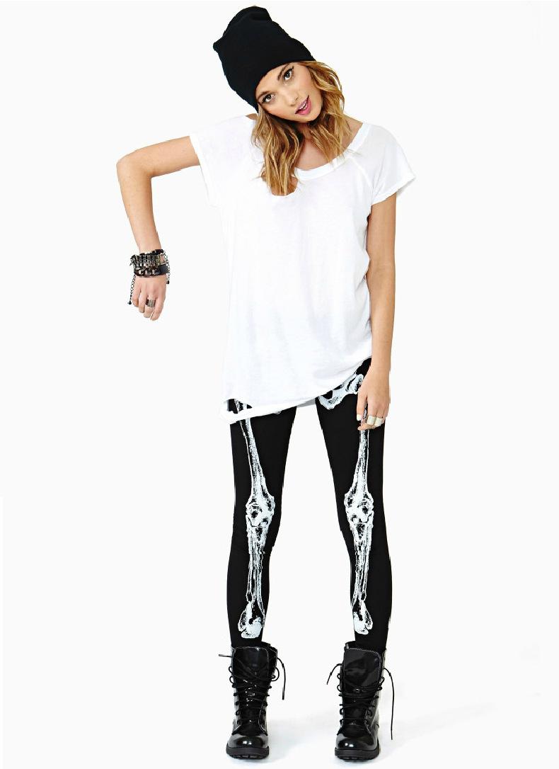 Aliexpress.com : buy 2014 new women harajuku punk style leggings bone skull printing leggings black slim sexy elastic leggings women pencil pants from reliable leggings and leg warmers suppliers on happy moments store