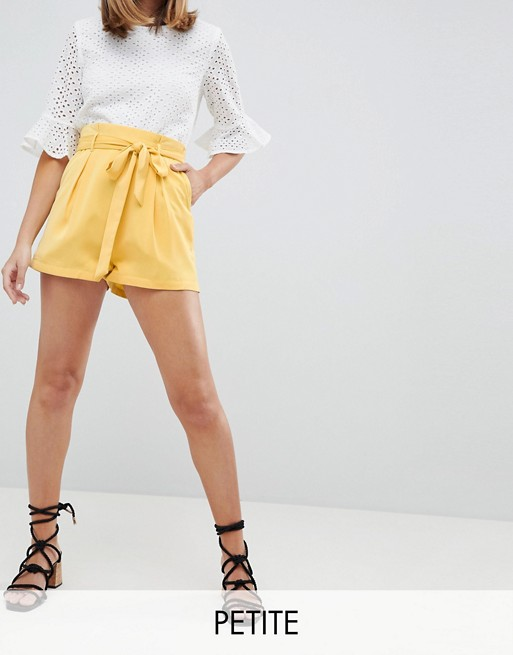 Fashion Union Petite High Waist Shorts at asos.com