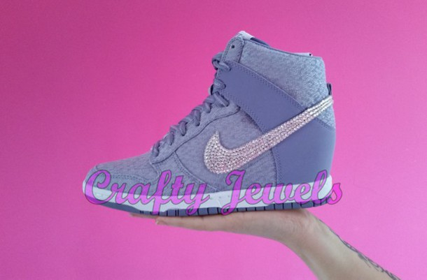 nike shoes for girls purple. shoes nike dunk sky hi pretty purple lilac sexy girl girly swag wedges for girls i