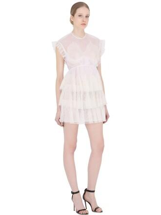 dress mini dress mini sheer white