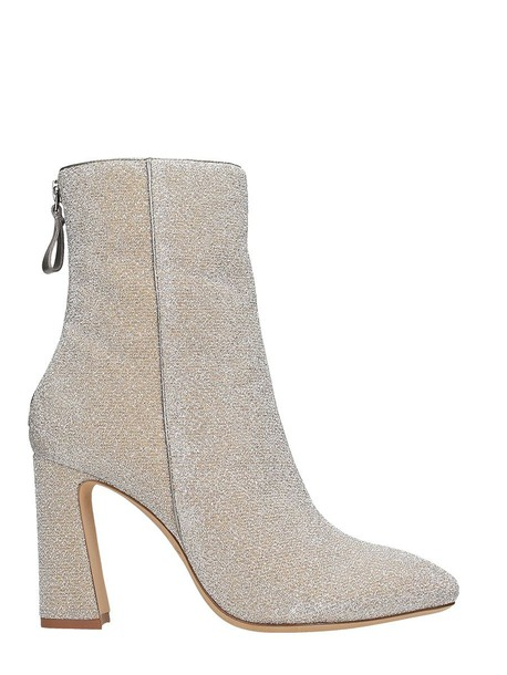 glitter ankle boots silver shoes