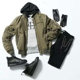 jacket maniere de voir bomber jacket khaki streetstyle