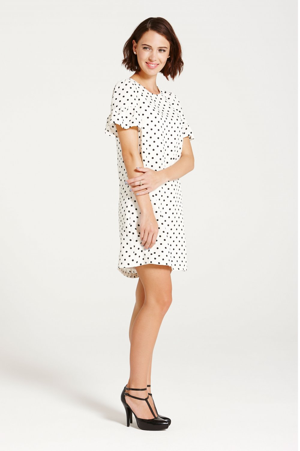 Cream & Black Polka Dot Tunic