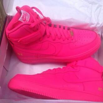 shoes nike nike air force 1 neon