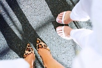shoes high heels leopard print