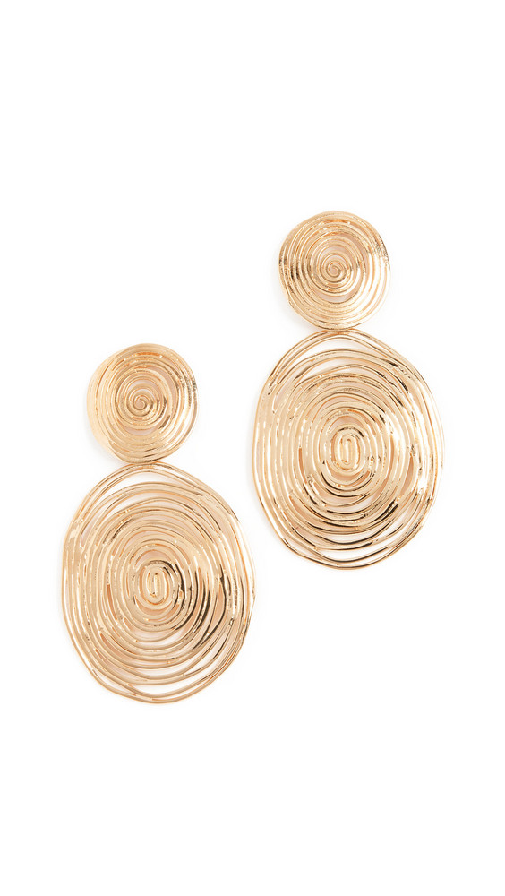 GAS Bijoux Wave Large Earrings in gold / yellow