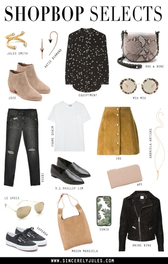 sincerely jules blogger jewels shoes blouse bag sunglasses jeans t-shirt skirt top jacket jewelry gold ring gold ring