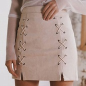 skirt,crossed skirt,blouse