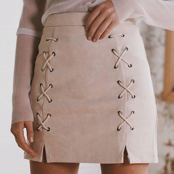 skirt crossed skirt blouse