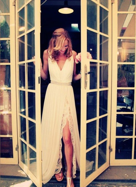 dress white/ivory long dress
