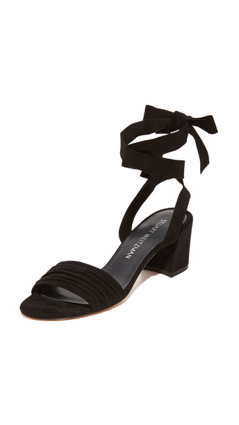 Stuart Weitzman Swifty City Sandals - Black