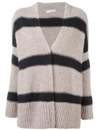 cardigan open women nude silk wool sweater