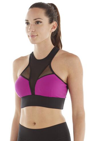 top bra designer michi bikiniluxe activewear black pink purple sports bra