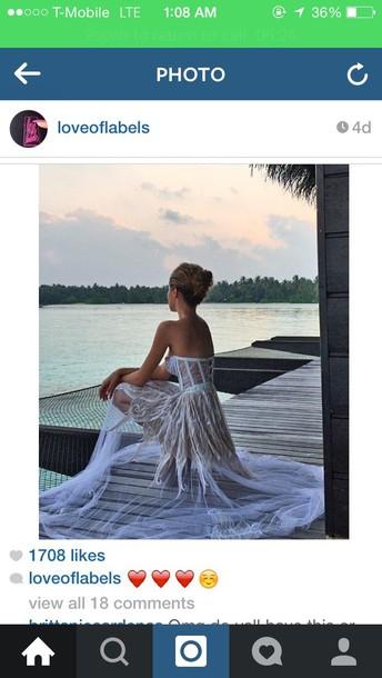 dress topless white dress