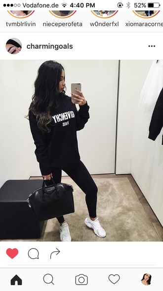 shirt black sweater leggings