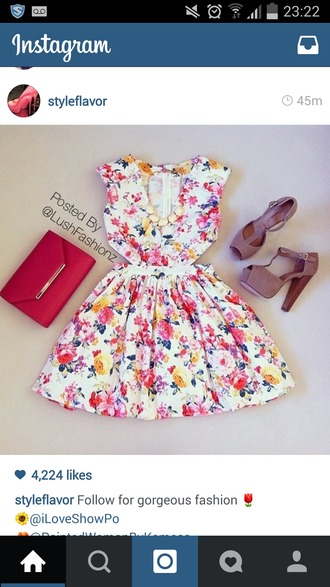 dress floral dress floral skirt skirt beige shoes pink dress pink skirt lush trend trendy summer dress short dress day dress mini dress skater skirt skater dress