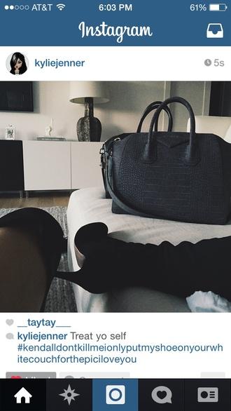 bag black bag purse kylie jenner