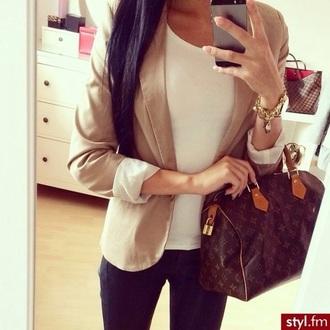 jacket brunette mirror style selfie fashion black beige white iphone case louis vuitton