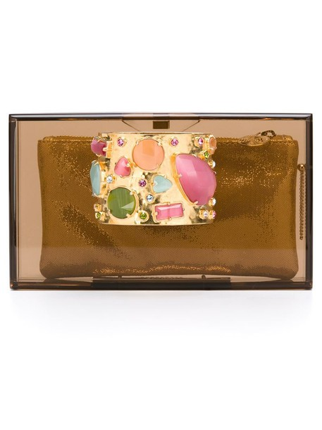 charlotte olympia women clutch brown bag