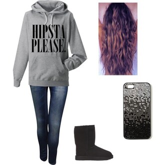 sweater hipster jeans shoes phone cover