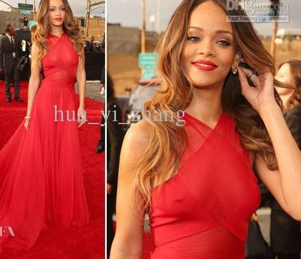 Celebrity Dress Inspired by Rihanna 2013 The 55th Grammy Awards Red Carpet Dress | eBay