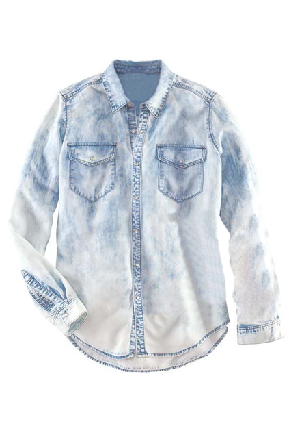 ROMWE   Arc Hem Buttoned White Shirt, The Latest Street Fashion