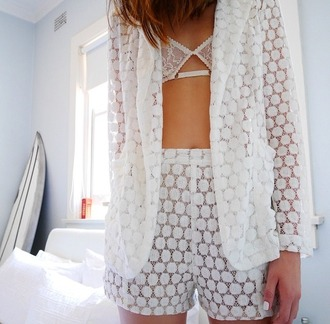lace white lace white underwear shorts summer outfits beautiful nail polish bra suit polka dots blazer girl sun hairstyles wiondow bedding white suit soft bra nail polish white