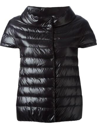 jacket short quilted black