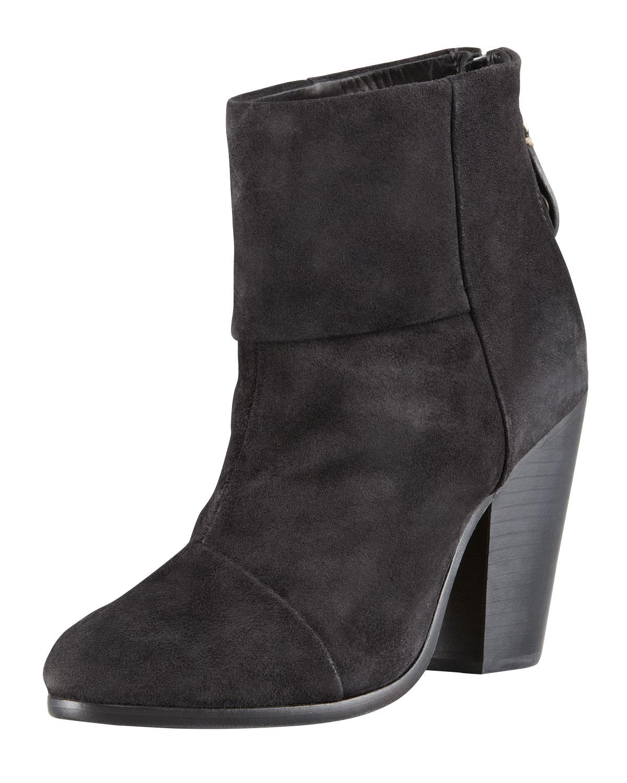 Newbury Suede Ankle Boot, Asphalt