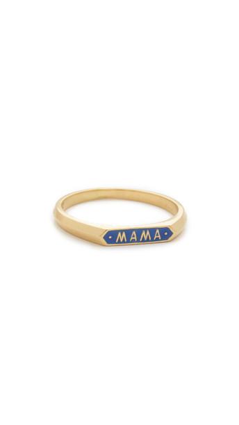 Nora Kogan Mama Signet Ring - Blue