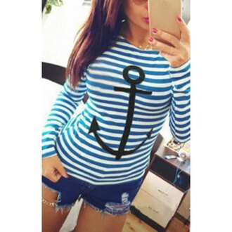 top fashion stripes long sleeves trendy cool rose wholesale-dec