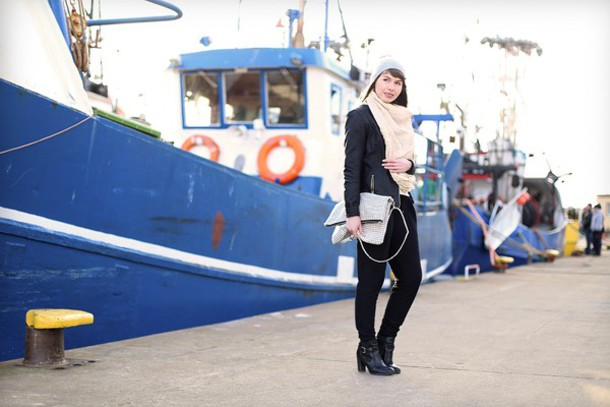 kapuczina blogger pants jacket scarf pouch
