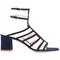 Marion parke - bridget sandals - women - leather/suede - 37.5, blue, leather/suede