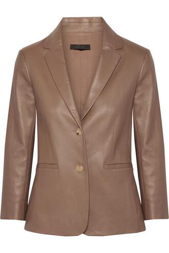 blazer leather jacket